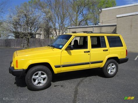jeep cherokee yellow solar yellow 2001 jeep cherokee sport 4x4 exterior photo