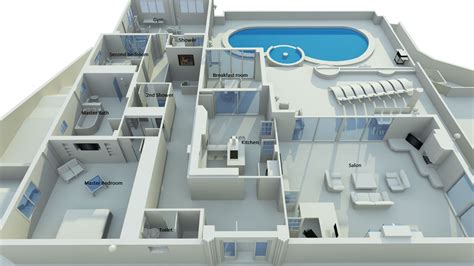 home design 3d 2 8 house with swimming pool 2 bed 3 5 bath plus gym and