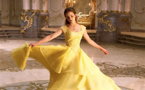 beauty and the beast clip reveals making of belle s gown this behind the scenes quot beauty and the beast quot clip proves