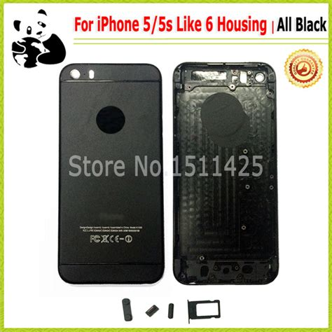 Casing Housing Iphone 5 Iphone 5g Style Model Iphone 6fullset Ori all black style for iphone 5s back cover housing for
