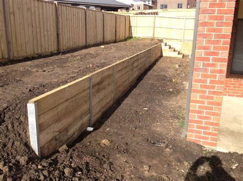 Sleepers Cost by Retaining Walls Geelong Leprechaun Landscaping Services