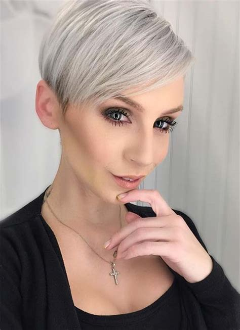 silver pixie hairstyles 100 short hairstyles for women pixie bob undercut hair