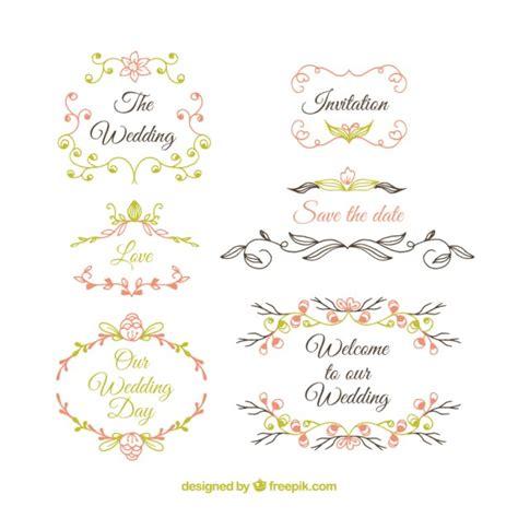 cute wedding decoration vector free download cute wedding ornaments vector free download