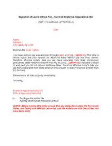 Letter Of Intent Expiration Date Expiration Of Lwop Cov Employee Separation Letter Hashdoc