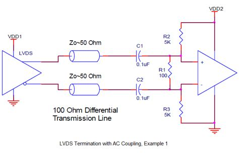 transformer coupling lvds what options are available to interface lvds to a differential receiver with a different supply
