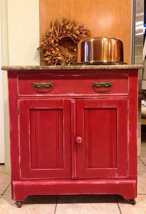 antique red kitchen cabinets red brick painted antique cabinet wash stand