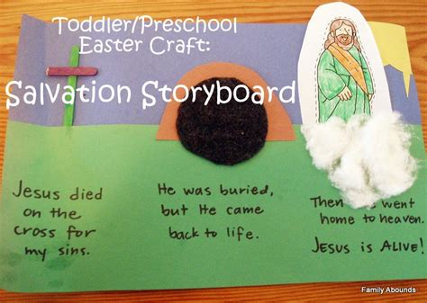 bible easter crafts for family abounds easter salvation storyboard craft