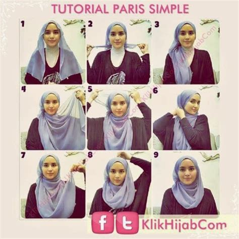 tutorial hijab paris simple tanpa jarum tutorial hijab segi empat simple tanpa pentul hijab