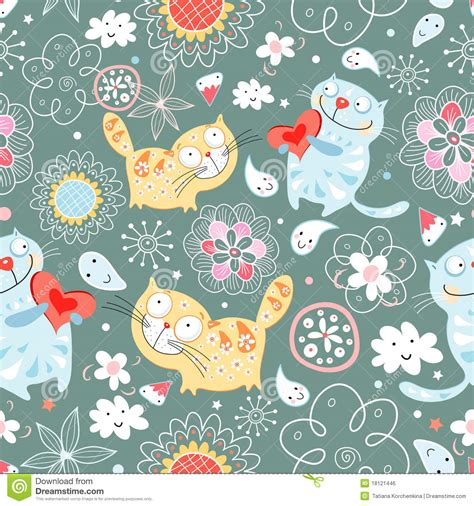 free cat background pattern seamless pattern of cat lovers royalty free stock image