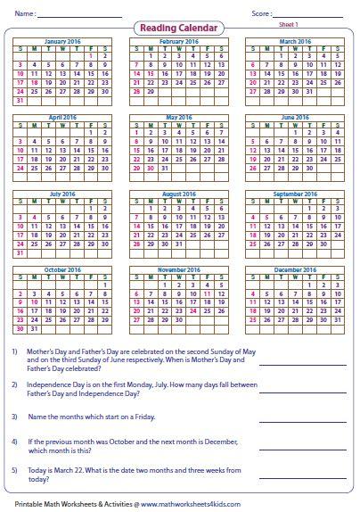 printable calendar ks2 reading calendar worksheets with word problems