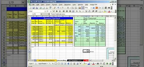 How To Do Bank Reconciliation In Microsoft Excel 171 Microsoft Office Wonderhowto Bank Reconciliation Template Excel