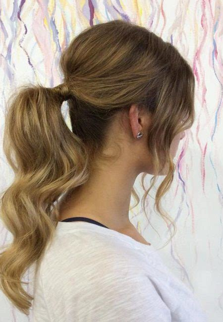 Effortless Ponytail Hairstyles with Bangs   Haircuts