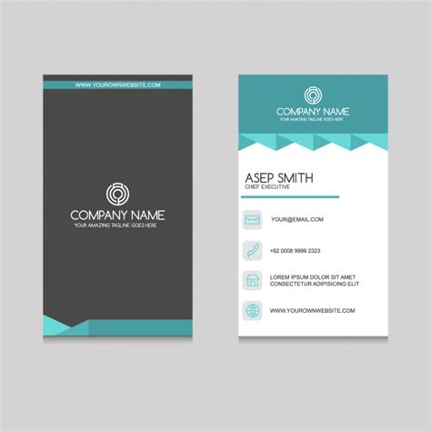 Business Card Template Freepik by Business Card Design Vector Free