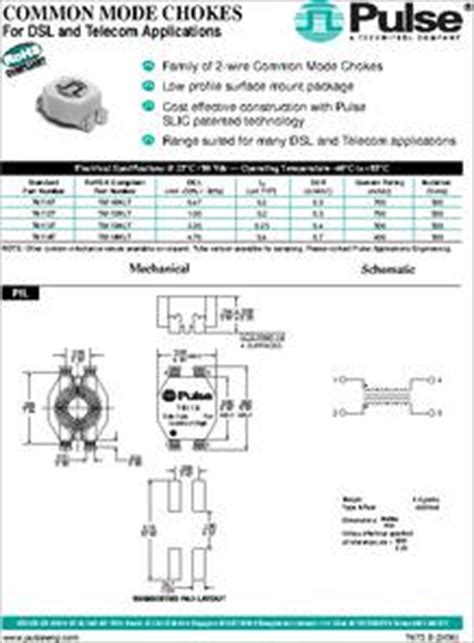differential mode choke datasheet common mode choke datasheet 28 images wurth electronics common mode chokes filters mouser