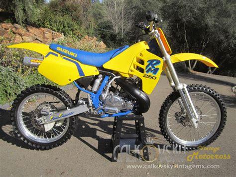 restored vintage motocross bikes for sale 1990 suzuki rm 250 vintage motocross dirt bike vmx