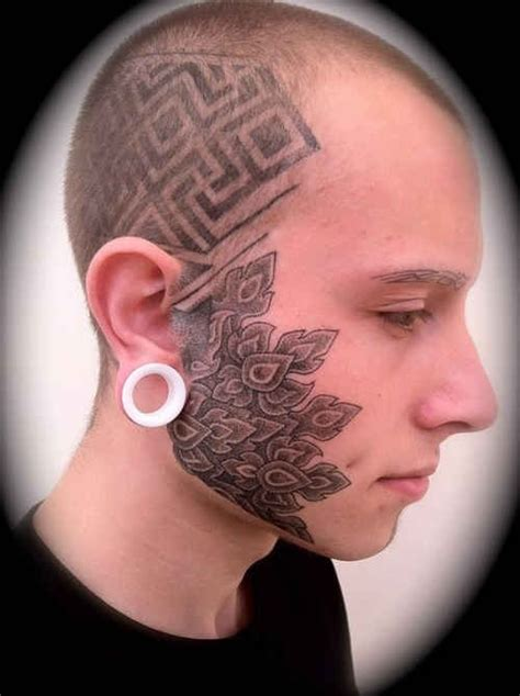 tattoo face with printer ink face tattoo images designs