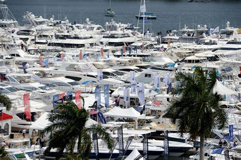 palm beach boat show attendance attendance up 17 percent at palm beach boat show sun