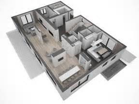 Floorplanner App moderne villa grundriss 3d