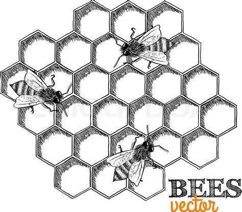 Drawing Honeycomb Pattern | honeycomb grid seamless pattern stock vector pinteres