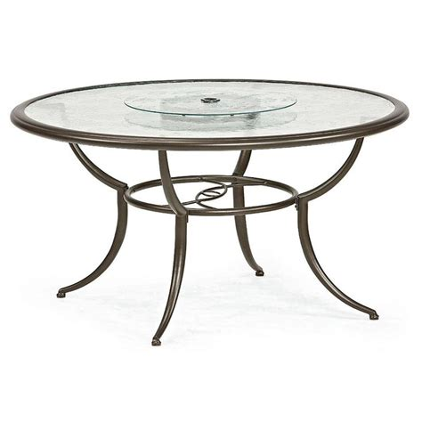 patio table lazy susan smith cora dining table with lazy susan outdoor