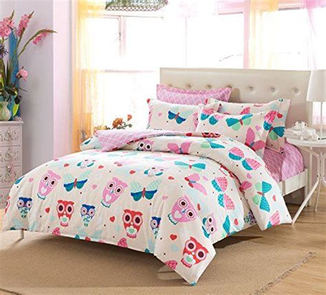 pink owl comforter cliab pink owl bedding for girls butterfly queen size