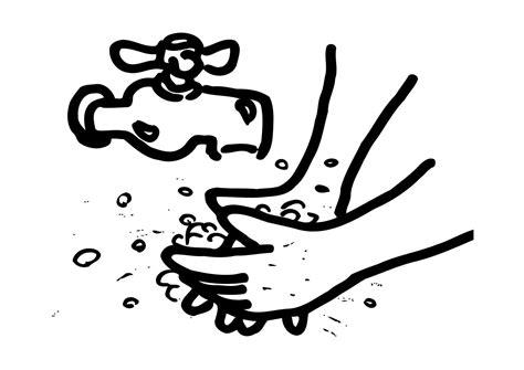 simple clean black and white dibujo para colorear lavarse las manos img 12171