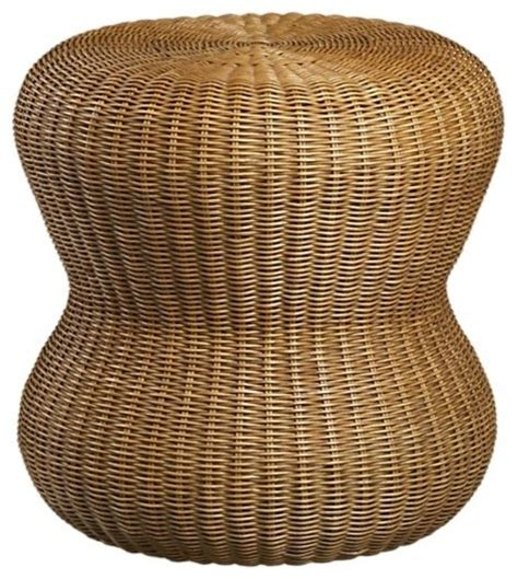 wicker footstools ottomans wicker ottoman crate barrel eclectic footstools and