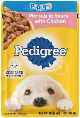 choice cuts puppy morsels in sauce chicken flavor dog food
