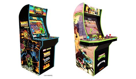 mini arcade 2019 in 1 arcade1up details new marvel and tmnt cabinets at e3 2019