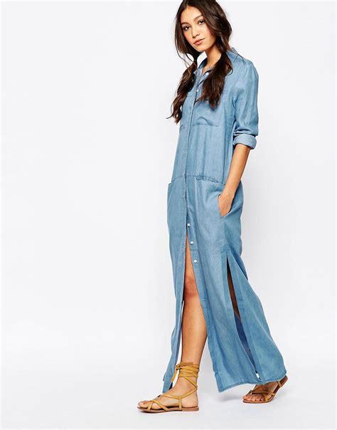 Denima Maxy Dress maxi shirt dress denim dresscab