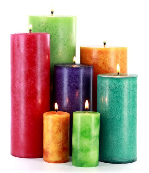Mottled pillar candles candle making techniques