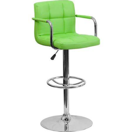 Green Swivel Bar Stools by Upholstered Contemporary Armrest Swivel Bar Stool Green
