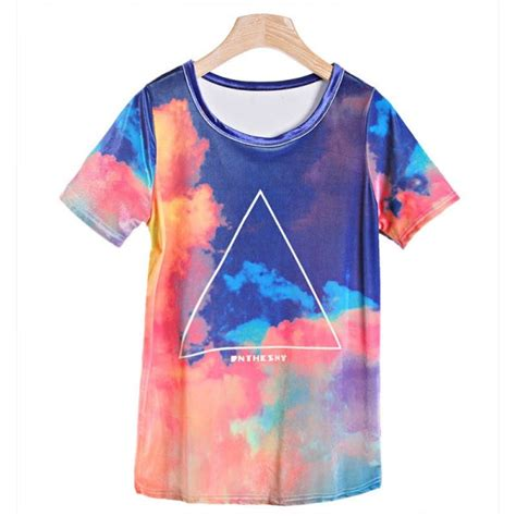 triangular tie dye t shirt buy cheap products at