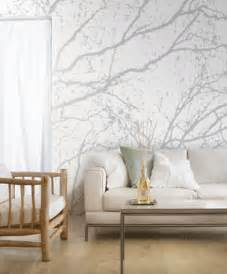 Large scale wallpaper patterns used for one wall decorating can