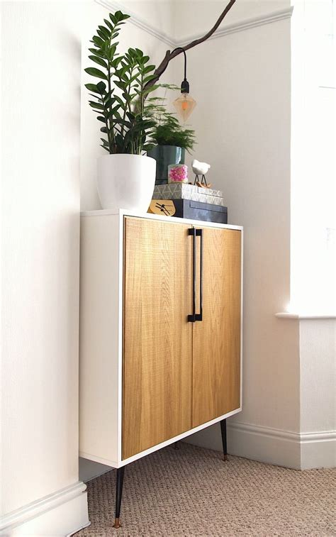 my diy ikea hack of lixhult cabinet with real marble on diy mid century style cabinet ikea hack using metod