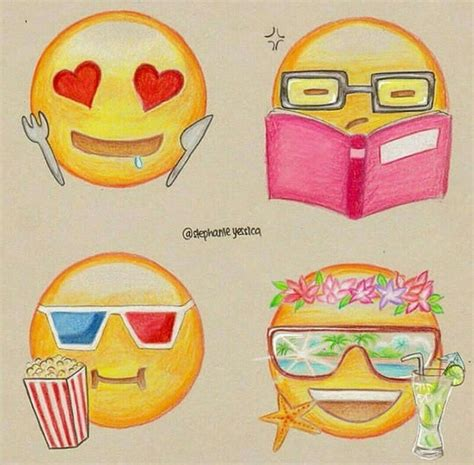 Drawing Emojis by Emoji S Drawing Dibujos Arte Dibujo