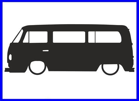 Campervan Wall Stickers 1x low volkswagen type2 t2 camper van bay window outline