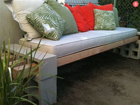 diy sofa bench 12 awesome concrete and cinder block outdoor diy projects
