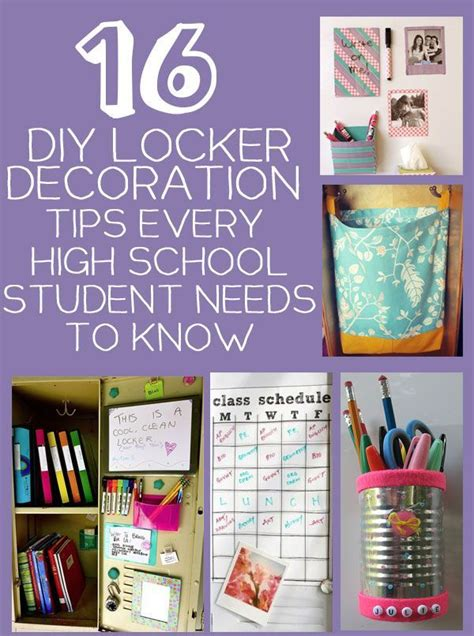 16 diy locker storage and decoration tips and tricks every high school student needs high