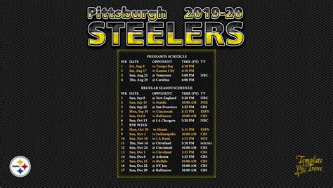 pittsburgh steelers wallpaper schedule