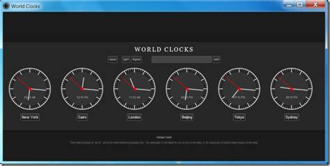 World Clocks: View Time From As Many As 400 Cities [Chrome]