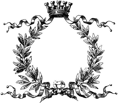 printable leaf crown crown and wreath clipart etc