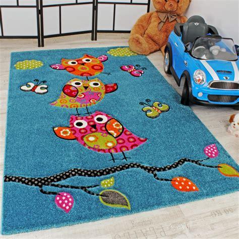 teppich kinder niedliche eulen t 252 rkis kinder teppiche
