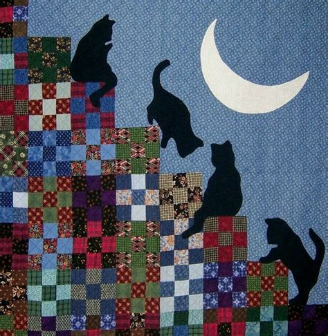 Patchwork Cat Quilt Block Patterns - cat quilts quilt inspiration the best of cat quilts