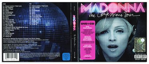confessions tour digipack front back and discs