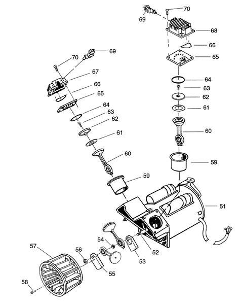 craftsman twin  oil  air compressor pump parts