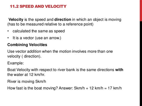 chapter 11 motion section 11 2 speed and velocity chapter 11 motion power point