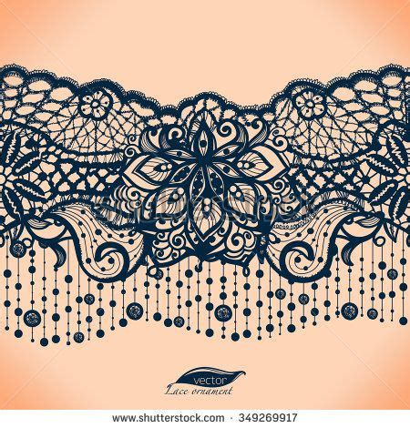 garter templates abstract lace ribbon seamless pattern with elements