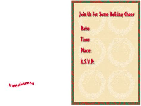 printable holiday invitation cards free christmas cards santa claus christmas invitations