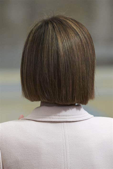 curly blunt cut short hair cuts back view reina sofia 2014 awards zimbio